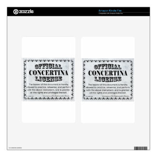 Concertina License Kindle Fire Decals
