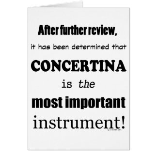 Concertina Most Important Instrument Card