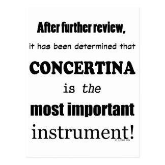 Concertina Most Important Instrument Postcard