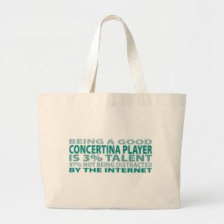 Concertina Player 3% Talent Tote Bag