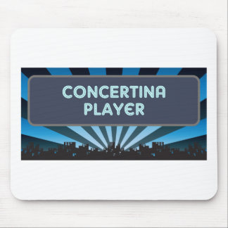 Concertina Player Marquee Mouse Pad