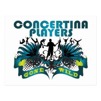 Concertina Players Gone Wild Postcard