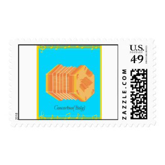 concertina postage stamps