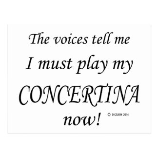 Concertina Voices Say Must Play Postcard