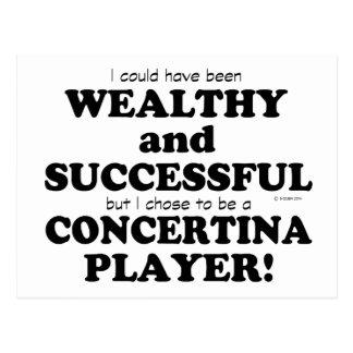 Concertina Wealthy & Successful Postcard