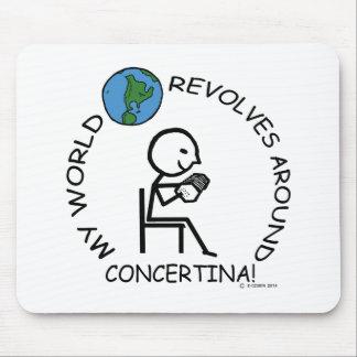Concertina- World Revolves Around Mouse Pad