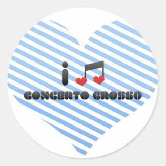 Concerto Grosso fan Round Stickers