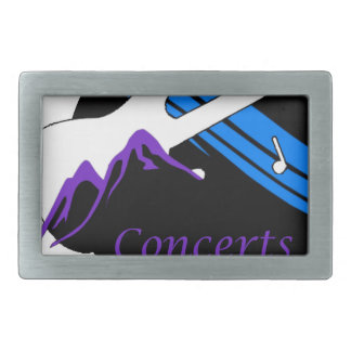 concerts at park city rectangular belt buckle