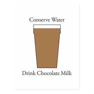 Concerve Water Drink Chocolate Milk Postcard