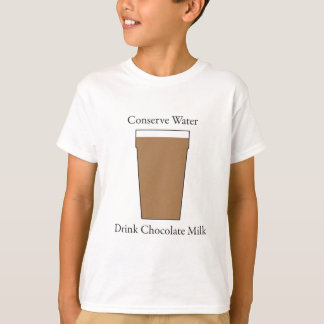 Concerve Water Drink Chocolate Milk T-Shirt