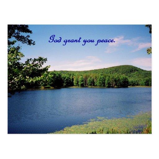 Concesión de dios usted paz, el Quabbin Tarjeta Postal