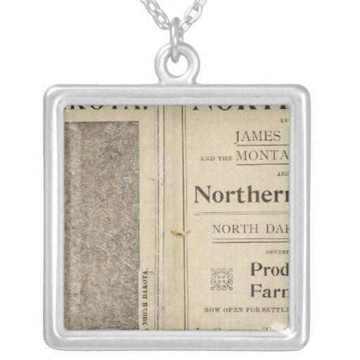 Concesión de tierras de Dakota del Norte Colgante Cuadrado