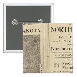 Concesión de tierras de Dakota del Norte Pin Cuadrado