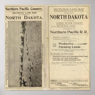 Concesión de tierras de Dakota del Norte Póster