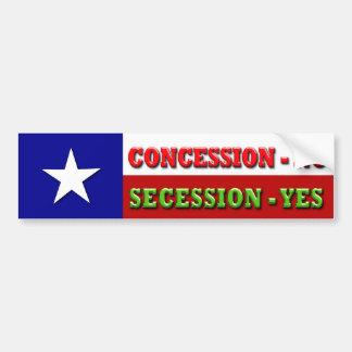 Concesión - NO, secesión - SÍ Pegatina Para Auto
