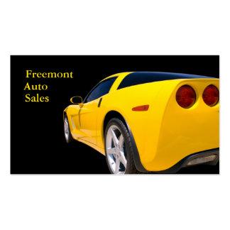Concesionario de coches usado tarjetas de visita