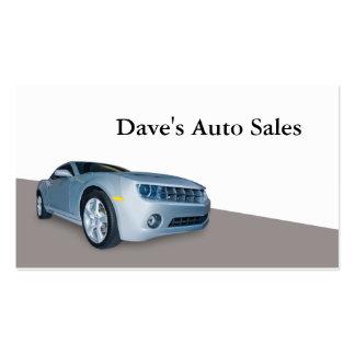 Concesionario de coches usado plantilla de tarjeta de negocio