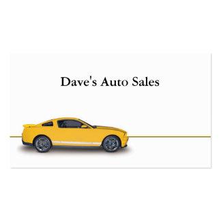 Concesionario de coches usado plantillas de tarjeta de negocio