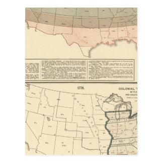 Concesiones originales de 1776 áreas establecidas tarjetas postales