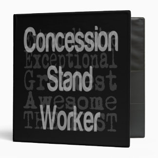 Concession Stand Worker Extraordinaire 3 Ring Binder
