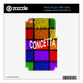 CONCETTA iPod TOUCH 4G DECAL