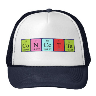 Concetta periodic table name hat