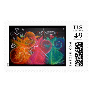 conch dancers postage stamp