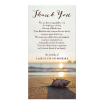 Conch on Beach | Sympathy Thank You Card