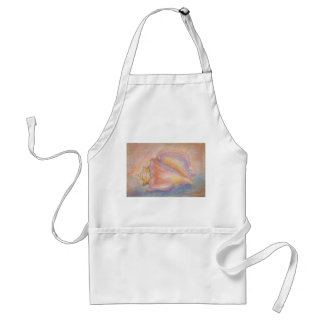 conch pastel adult apron