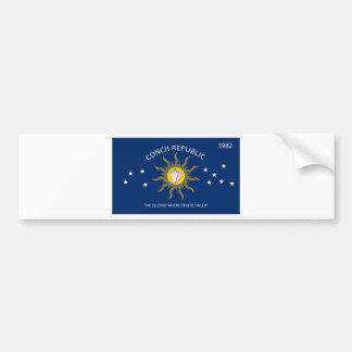 Conch Republic Flag Bumper Sticker