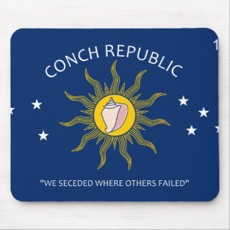 Conch Republic Flag Mouse Pad