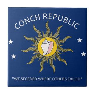 Conch Republic Flag Small Square Tile