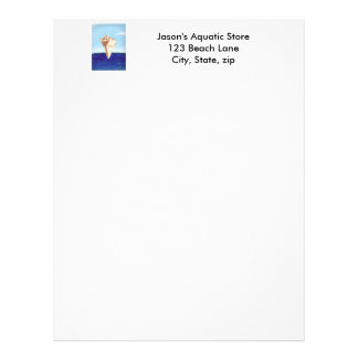 Conch Sea Shell Ocean Painting letterheads Letterhead