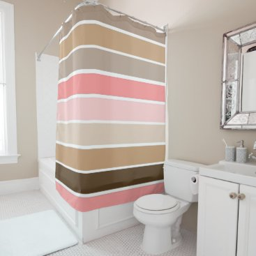 Beach Themed Conch Seashell Colors Shower Curtain