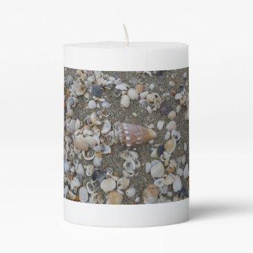 Conch Seashell Treasure Pillar Candle