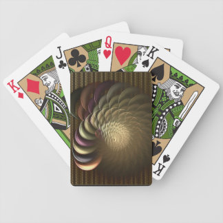 Conch Shell Abstract Art Bicycle Poker Cards