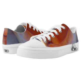 Conch Shell Abstract Low-Top Sneakers