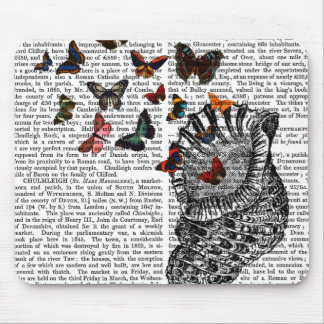 Conch Shell and Butterflies 2 Mouse Pad