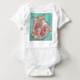 Conch shell baby bodysuit