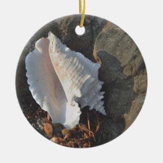 Conch Shell Ceramic Ornament