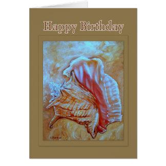 Conch Shell Happy Birthday Card