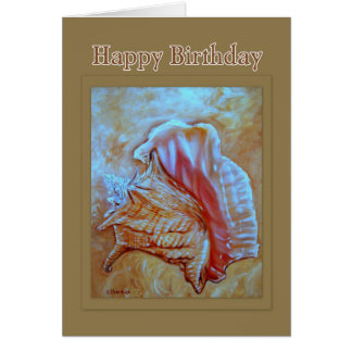 Conch Shell Happy Birthday Greeting Card