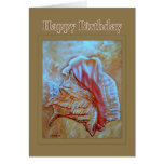 Conch Shell Happy Birthday Greeting Card