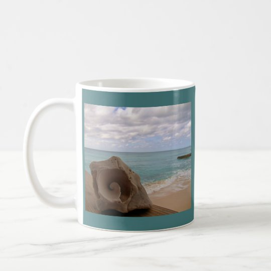 Conch Shell Paradise Beach Coffee Mug