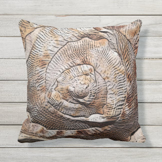 Conch Shell Seashell Outdoor Pillow