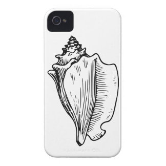 Conch Shell Sketch iPhone 4 Case-Mate Case
