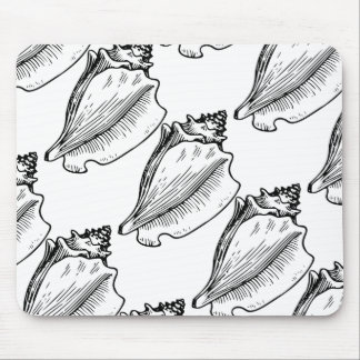 Conch Shell Sketch Mouse Pad