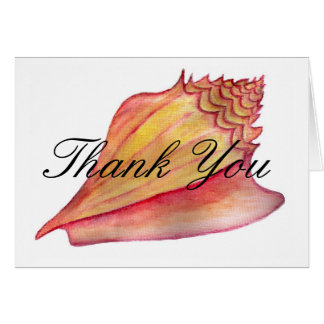 Conch Shell  Thank You Card