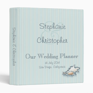 "Conch Shell Wedding Planner Binder (1"")"