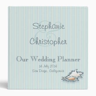 "Conch Shell Wedding Planner Binder (1.5"")"